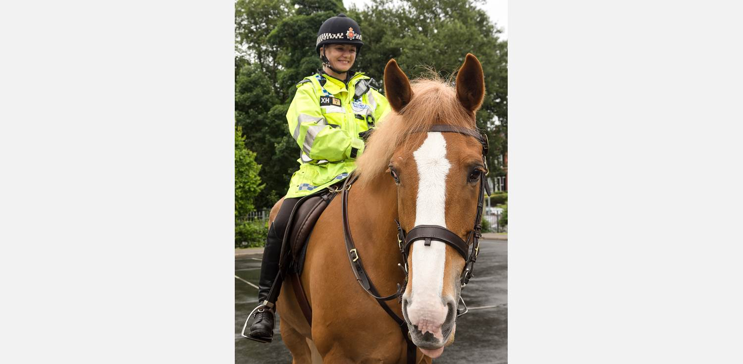 Police Horses visit - Bumble