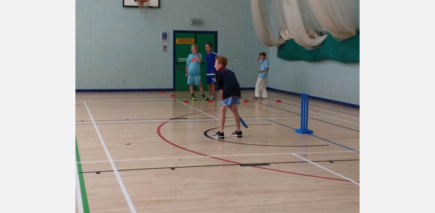 Flintoff Cricket Academy - at the stumps