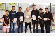 A Level Results Day 2017 Boys with results