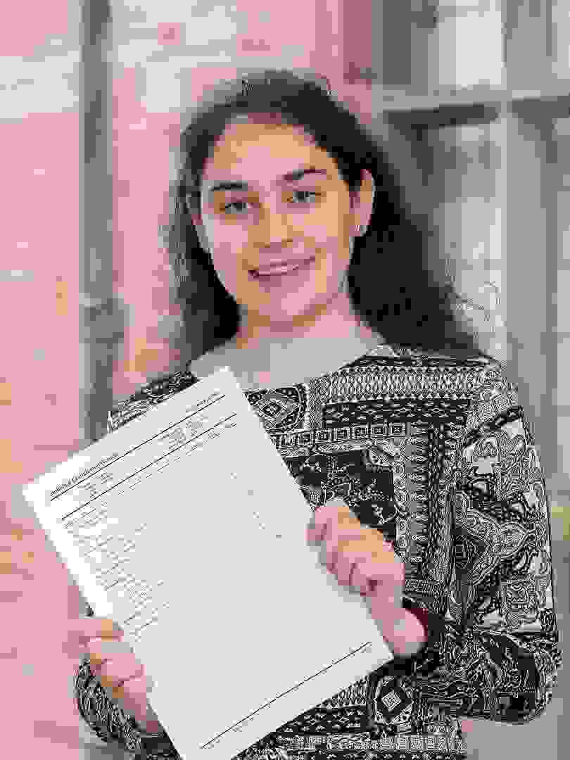 A Level Results Day 2017 Girl with results (1)