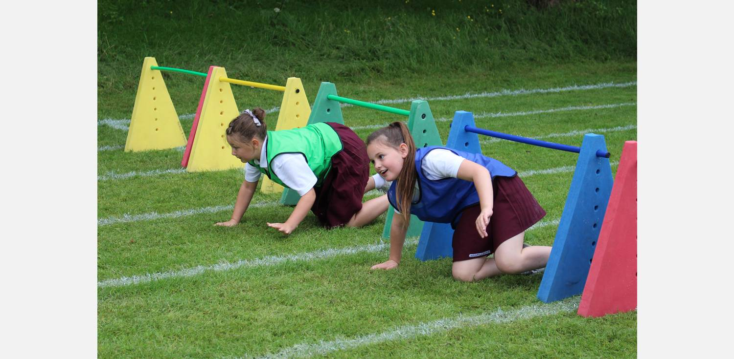 Sports Day - under hurdles