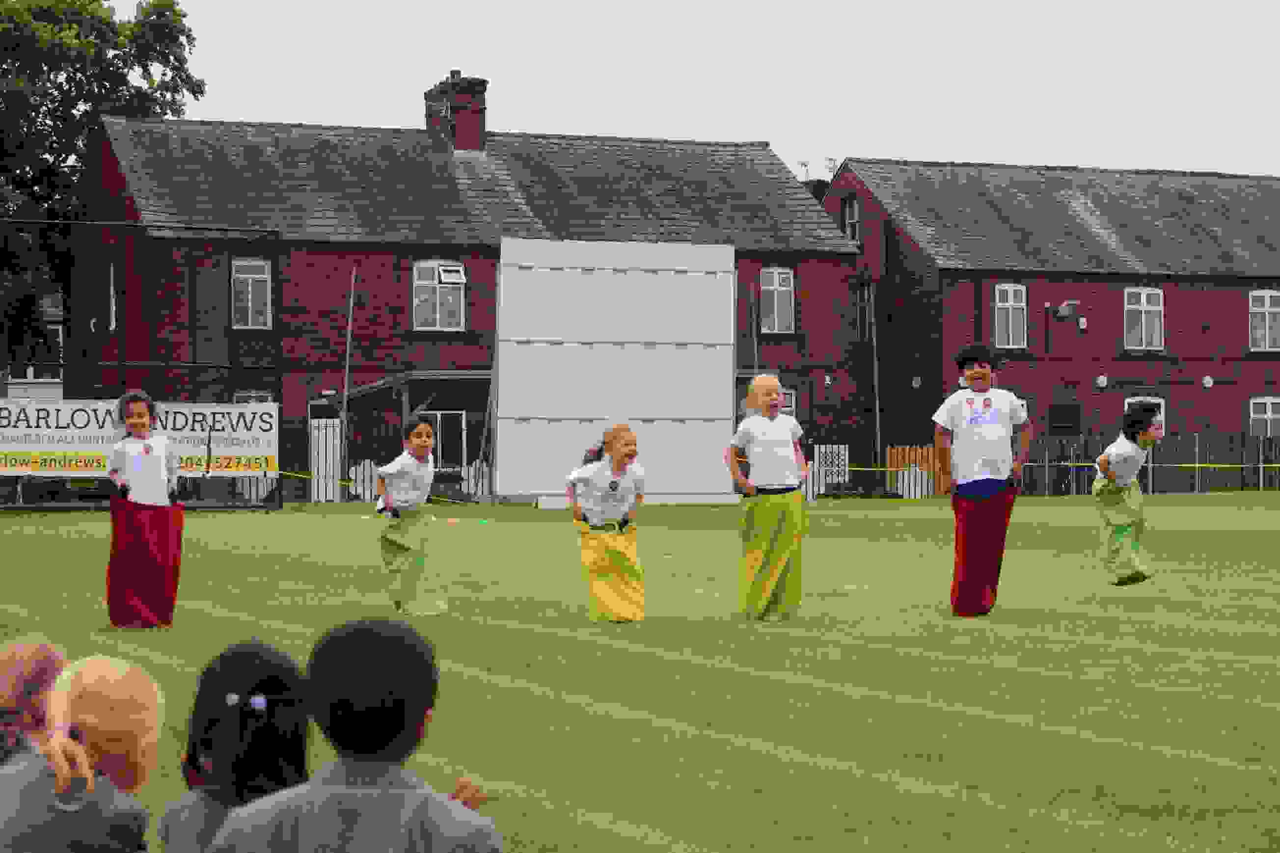 Sports Day - Reception Sack Race