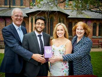 Bolton School won the Queen's Award for Voluntary Service (QAVS) in June 2017 - the first school to receive this prestigious honour