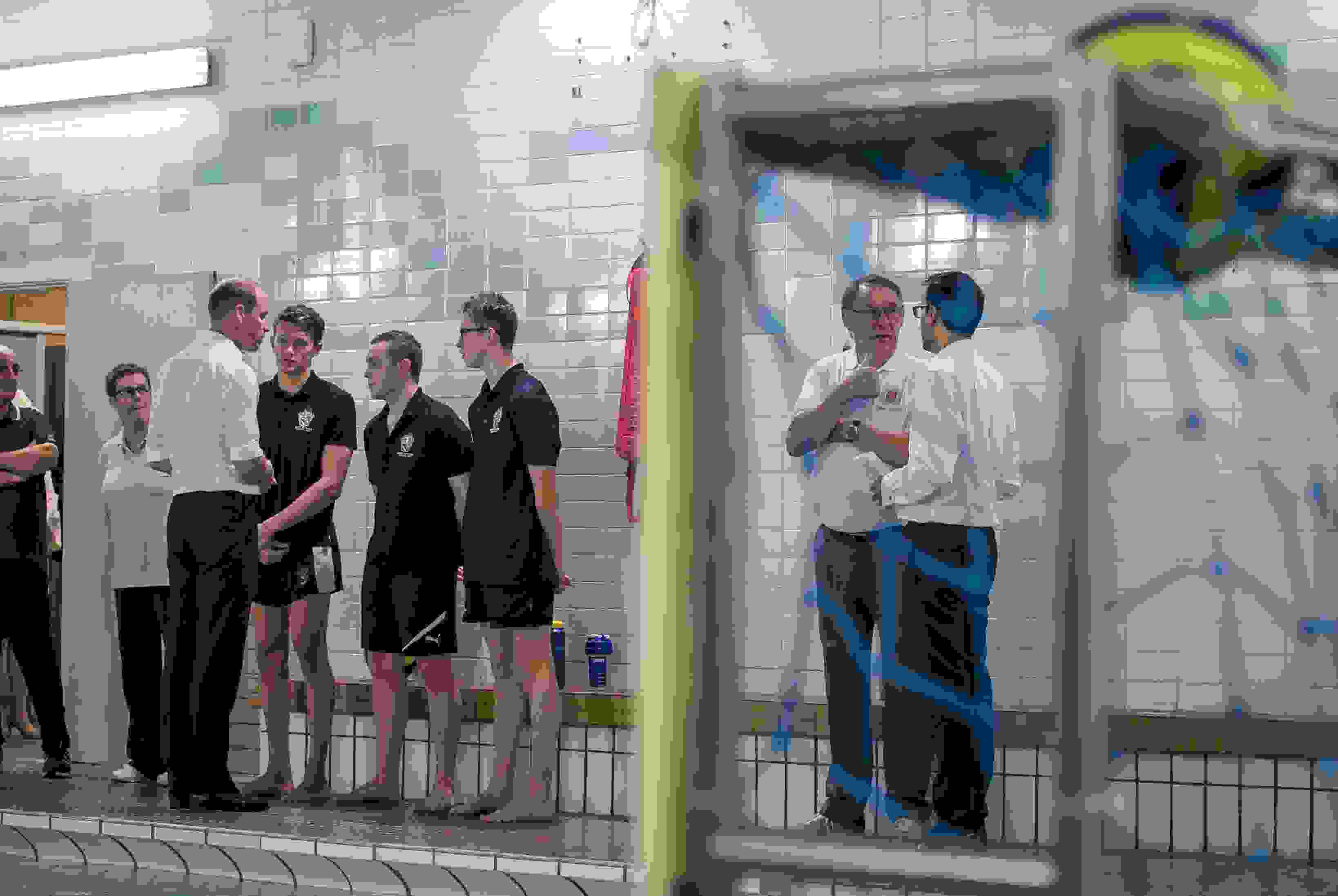Water Polo Royal Visit - Prince William talking to players