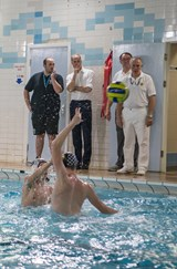 Water Polo Royal Visit - Prince William observing game