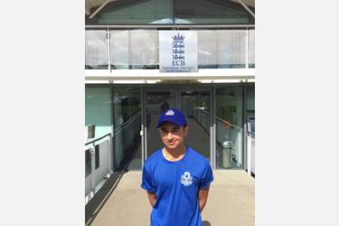 Cricketer Praharsh at ECB National Cricket Performance centre