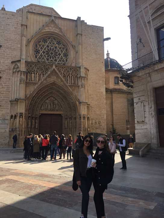 Year 13 students in Valencia on a Spanish study trip