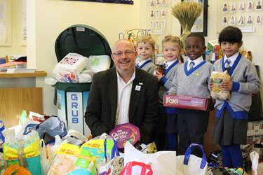 The whole Foundation supported charities with their Harvest donations. The Infants made their donation to Urban Outreach