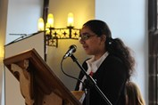 Remembrance Assembly Sameera reading