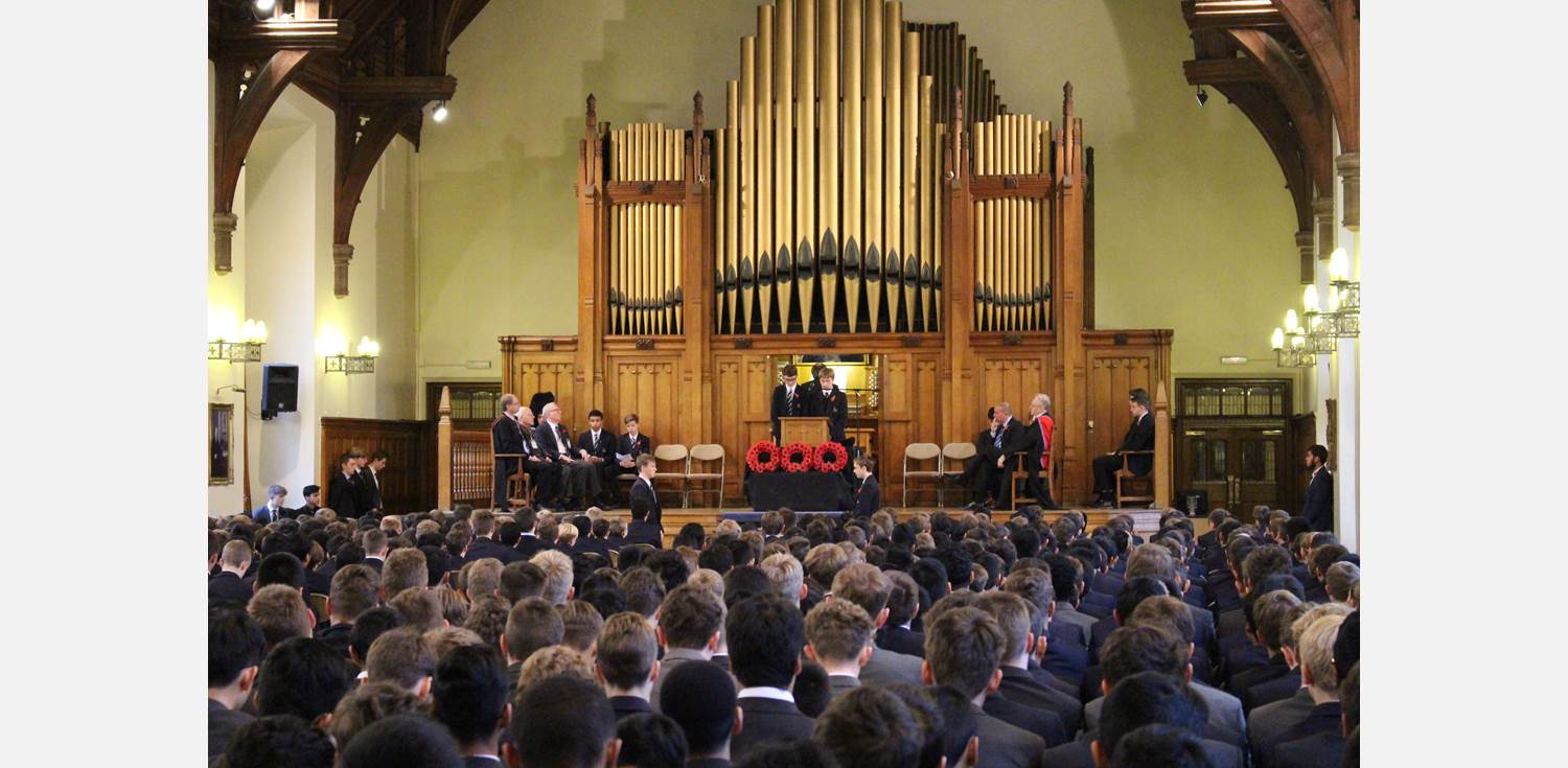 Remembrance Assembly Year 10 tributes to fallen Old Boys