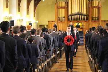 Remembrance Assembly procession