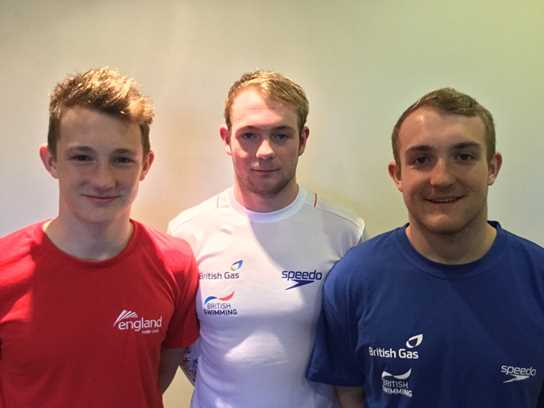 Jos, Aaron and Drew Winstanley have all played water polo for Great Britain