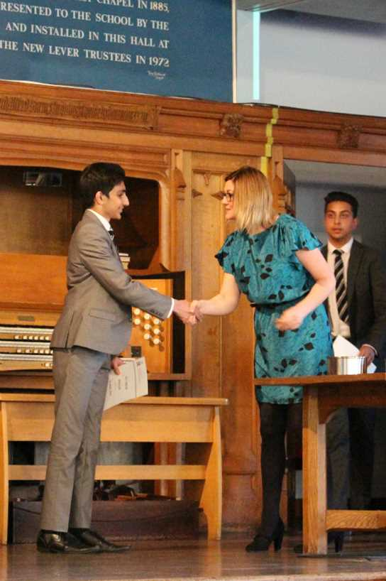 The pupils were presented with their Gold, Silver and Bronze level awards during the ceremony