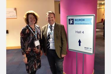 Nicola and Damian at the RCPCH conference in Birmingham