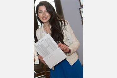 Rebecca received outstanding A-Level results in 2013