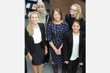 Old Girl Caroline Plumb advised girls on how to be successful in business