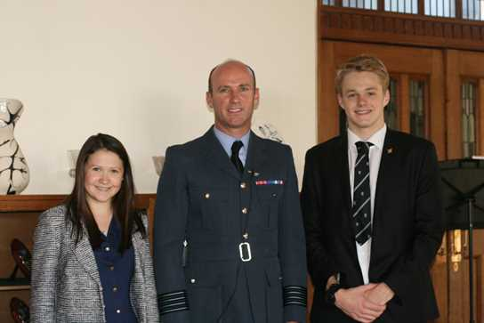 Mark with some of the Sixth Formers who attended his lecture