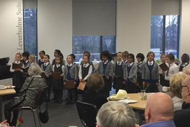 Beech House singing at Tea at the Riley