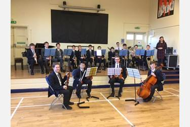 Senior Boys Concert in Jr Boys Assembly