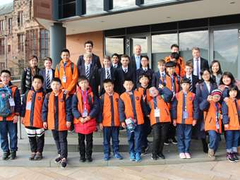 Pupils from Bocai Boarding School, China, enjoyed a taster morning at Bolton School in February