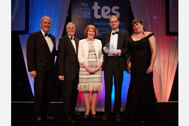 Bolton School won the 'Whole school community initiative of the year' award at the TES Independent School Awards 2018