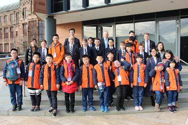 Chinese pupils visit