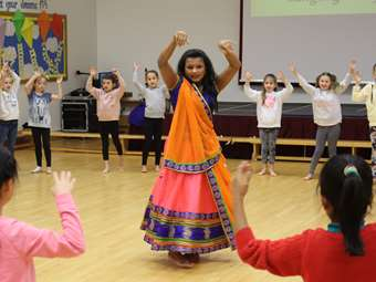 An Indian dance workshop