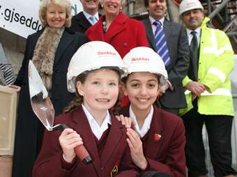Laying the Foundation Stone of the new Junior Girls' School, Hesketh House