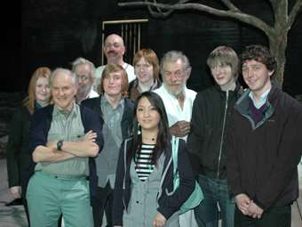 When Old Boy Sir Harry Met Old Boy Sir Ian: Lucky Sixth Formers met Sir Ian McKellen and his school pal Sir Harry Kroto, Nobel Prize Winner in Chemistry, at Sir Ian's performance of 'Waiting for Godot' in London! Matthew Kelly is also in the photo.