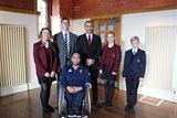Ayaz Bhuta, GB Wheelchair Rugby athlete and Rio 2016 Paralympian, and Old Boy Dr Vasudevan Mani, now Leeds Rhinos' Team Doctor, gave pupils an insight into sport at the highest level