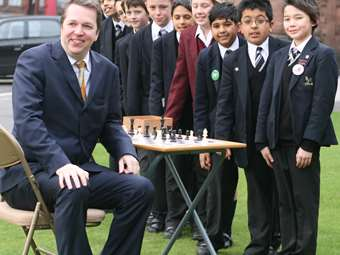 Chess Grandmaster Old Boy Nigel Short Returned to School