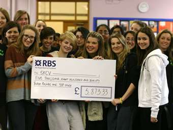 Support for street kids from Sixth Form Girls as they raised money in preparation for their visit to SKCV in India