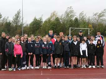 Pupils join the World Marathon Challenge