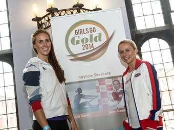 Helen Glover and Jenny Meadows were the keynote speakers at the prestigious Girls Go Gold Northern Conference 2014, hosted by Bolton School