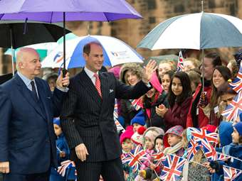 A Royal visit from HRH Prince Edward: he heard from pupils about their involvement with the Duke of Edinburgh Award and their volunteering