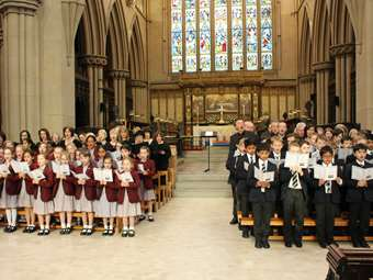 Choral Evensong at Bolton Parish Church celebrating the School's Centenary and Quincentenary