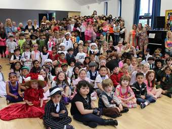 100 Years of History at Beech House: the Infant School celebrated the Centenary by dressing up in clothes from every decade