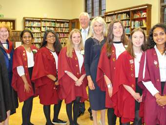 Selina Scott was the guest speaker at the Girls' Division's Sixth Form Presentation Evening 2016