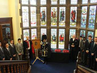 Armistice Day 2016: Remembrance tributes and the unveiling of a plaque commemorating an Old Boy who was inexplicably omitted from the memorial boards