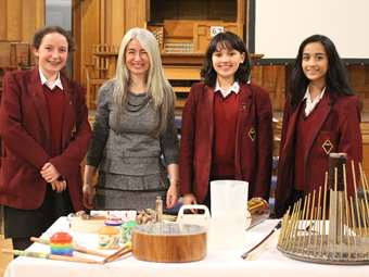 In Conversation with virtuoso percussionist Dame Evelyn Glennie, who visited the Girls' Division as part of the Arts and Sciences Evening Enrichment Lectures