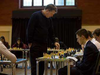 Old Boy Nigel Short returned in 2017 and played a simultaneous chess match against 23 boys and girls