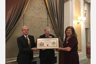 Bolton School was awarded the Heraldry Society's Corporate Heraldry Award in February 2018