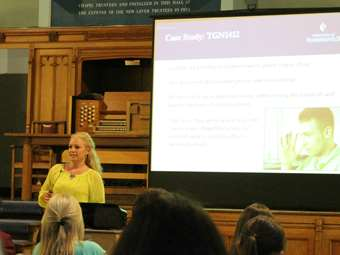 Dr Laura Waters talked about 'Alternatives to Animal Testing' (2016/17 Lectures)