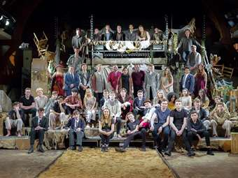The cast and crew of The Tempest