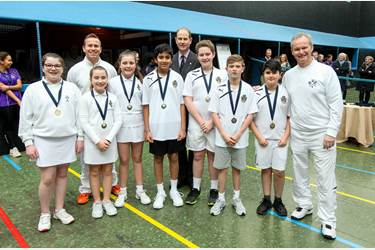 Royal visit to Manchester Real Tennis and Racquets Club