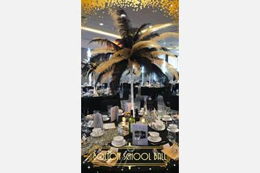 Bolton School Ball table decorations