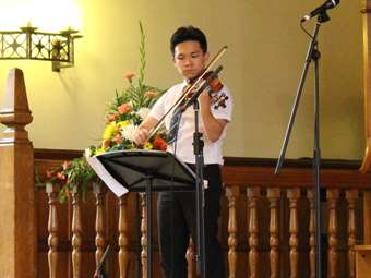 Prizegiving violin