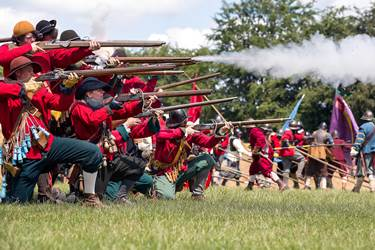 Storming of Bolton Civil War Re-enactment Muskets Firing KKP-165744