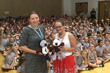 Final Assembly Mrs Phillips and Miss Lovick