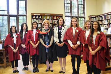 Presentation Evening Rt Rev Dr Jill Duff with Prefects